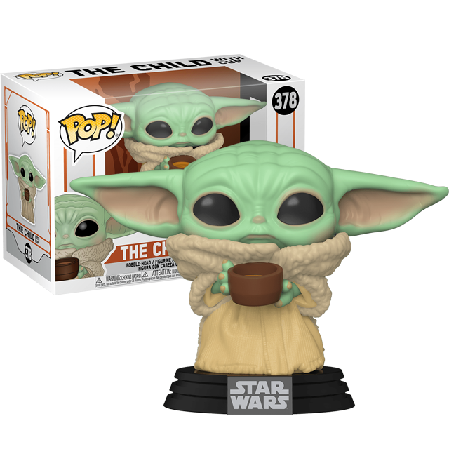 Funko POP Baby Yoda s hrnečkem - Mandalorian