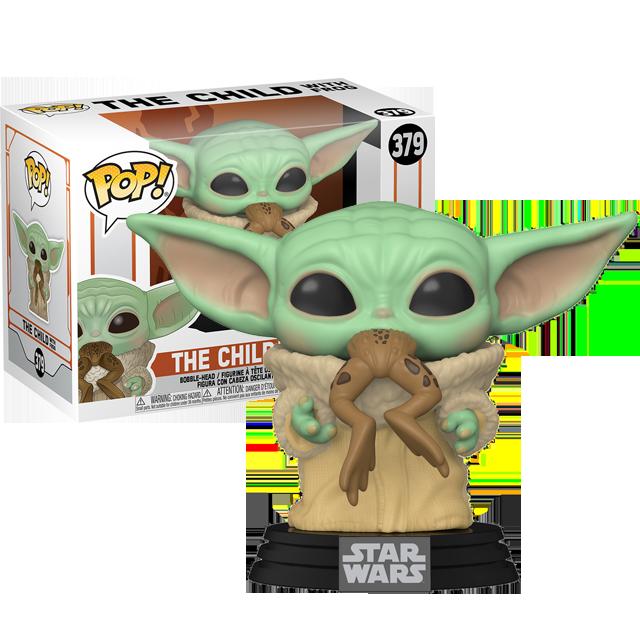 Funko POP Baby Yoda s žábou- Mandalorian