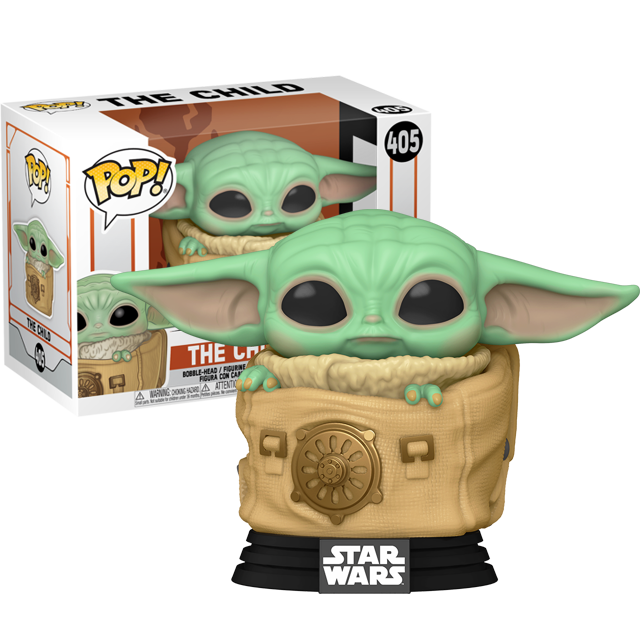 Funko POP Baby Yoda v batohu - Mandalorian