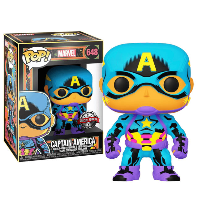 Funko POP Captain America - Black Light