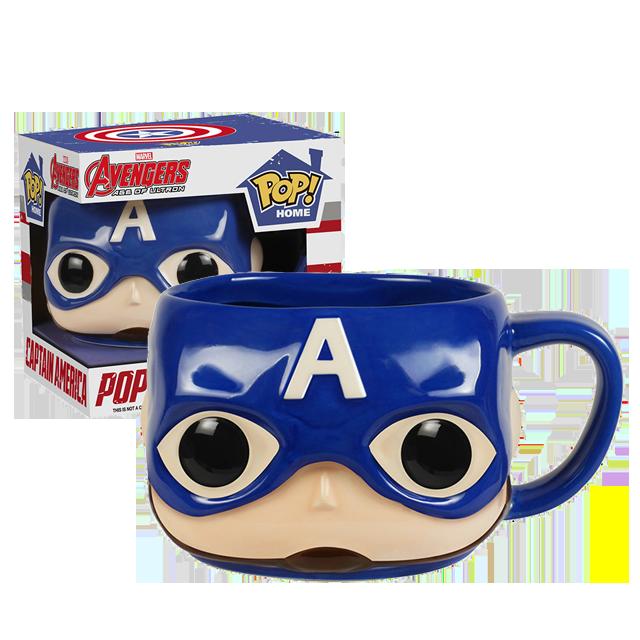 Funko POP! HOME Captain America - Keramický hrníček
