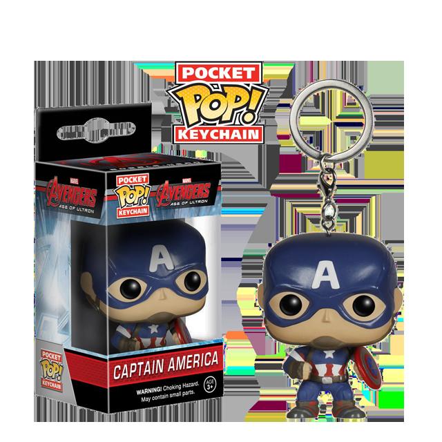 Pocket POP! Captain America - přívěsek na klíče