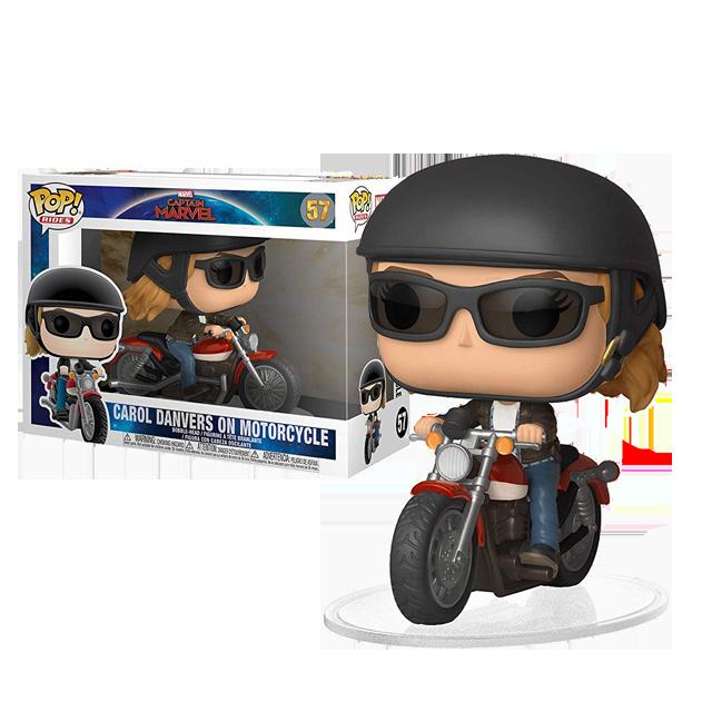 Figurka Funko POP Captain Marvel na motorce