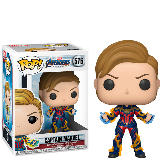 Figurka Funko POP Captain Marvel s blesky - Endgame