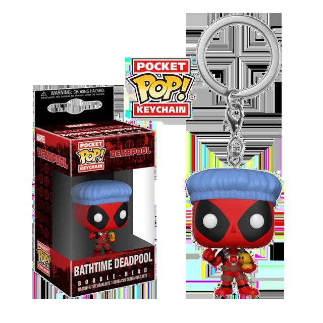 Pocket POP! Deadpool s koupací čepicí - přívěsek na klíče