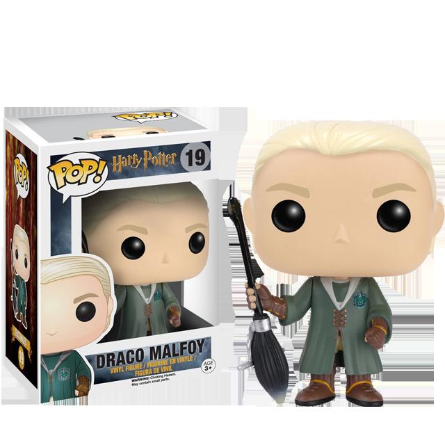 Figurka Funko POP! Draco Malfoy s koštětem