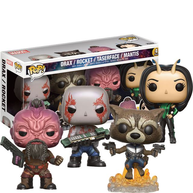 Drax, Rocket, Taserface a Mantis 4-Pack