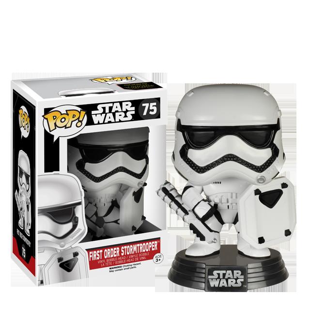 Figurka Funko POP! First Order Stormtrooper se štítem