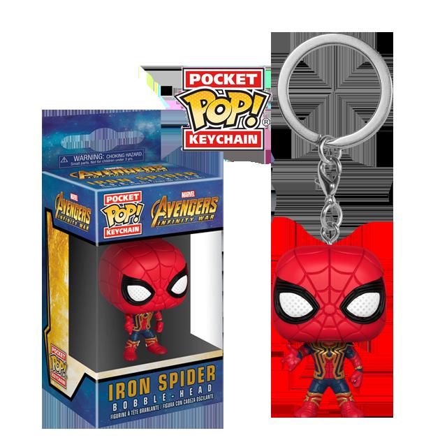 Pocket POP! Iron Spider - přívěsek na klíče