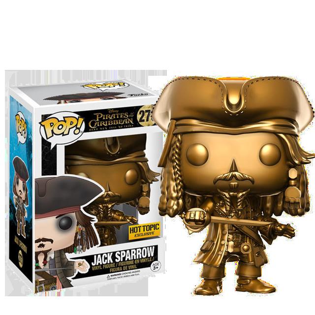 Figurka Funko POP! Jack Sparrow GOLD - Piráti z Karibiku