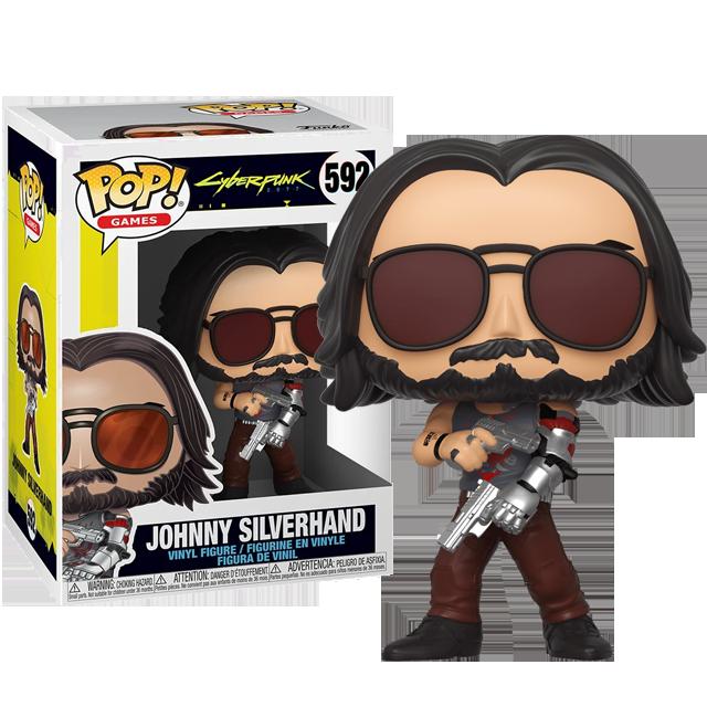 Funko POP Johnny Silverhand se zbraní - Cyberpunk 2077