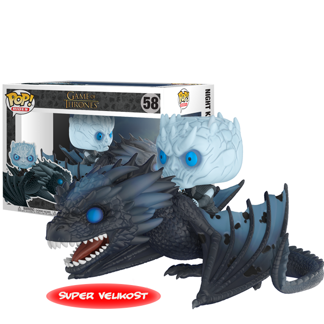 Figurka Funko POP! Night King & Viserion - svítící ve tmě