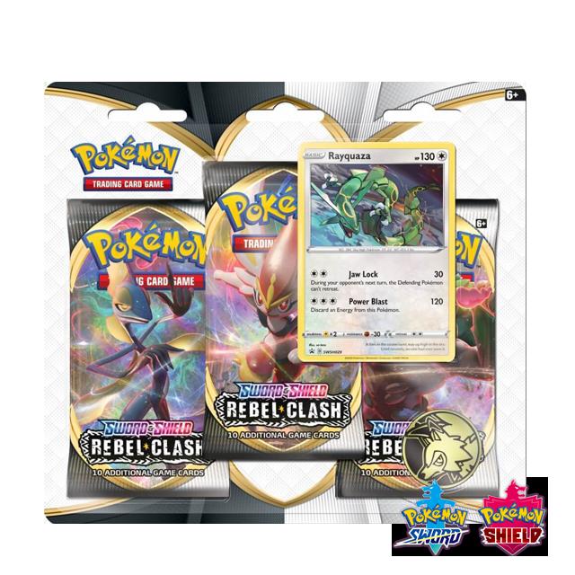 Pokémon Pokémon: Rebel Clash 3x Booster Pack - Rayquaza