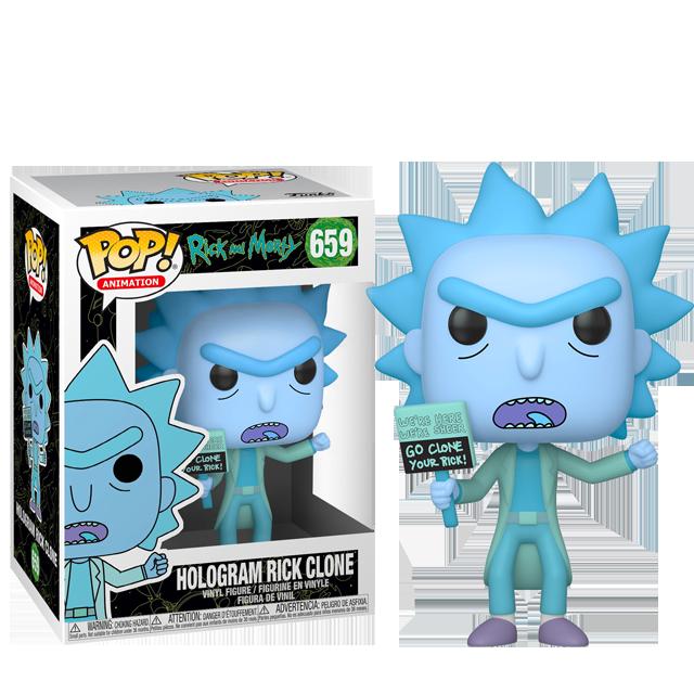 Figurka Funko POP Rick Hologram