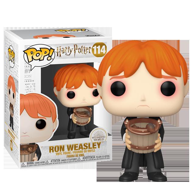 Figurka Funko POP Ron Weasley se slimáky