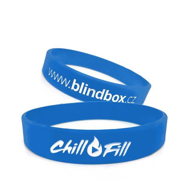 Silikonový náramek Chill Fill - modrý