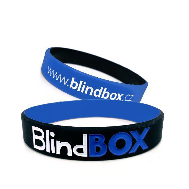 Silikonový náramek Exclusive - Modrá/černá
