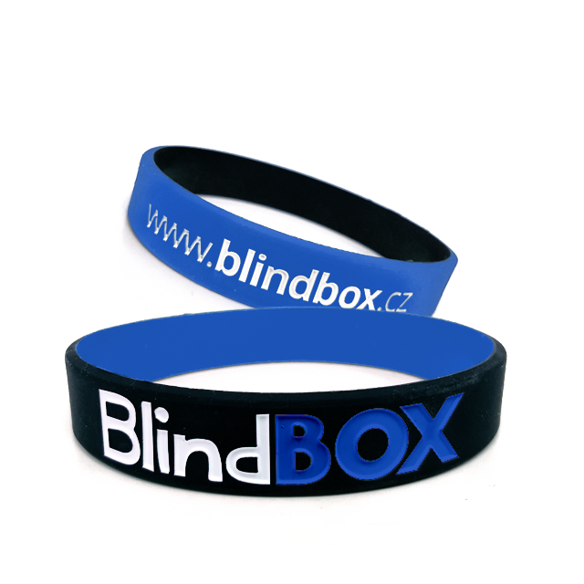 Blindbox Silikonový náramek Exclusive - Modrá/černá
