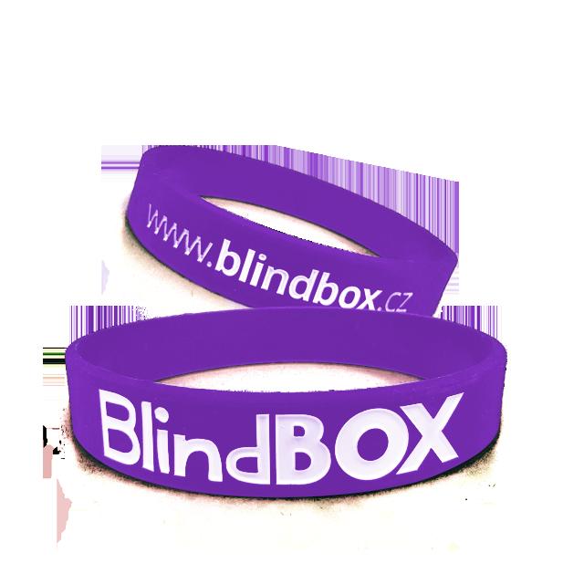 Blindbox Silikonový náramek Prémium - Fialový