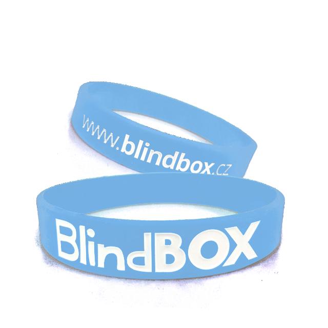 Blindbox Silikonový náramek Premium - Světle modrý