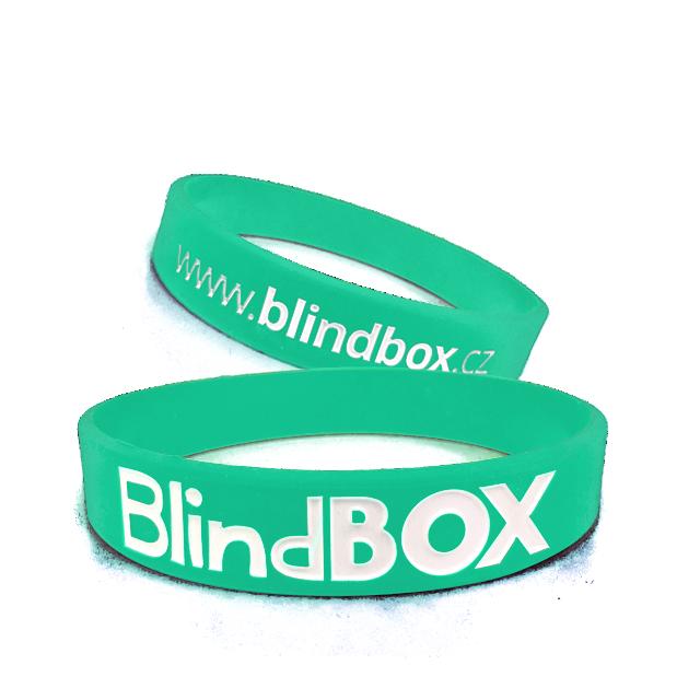 Blindbox Silikonový náramek Premium - Zelenomodrý