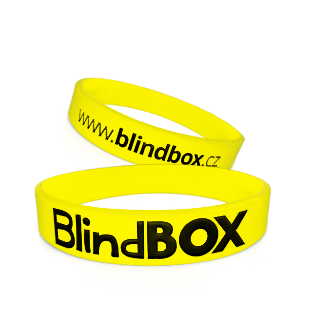 Blindbox Silikonový náramek Premium - Žlutý