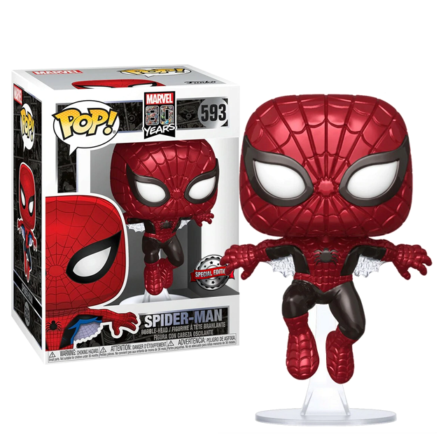Funko POP Spider-Man Metallic - 80th First Appearance