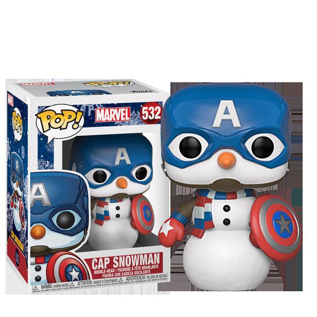 Figurka Funko POP Vánoční Captain America sněhulák