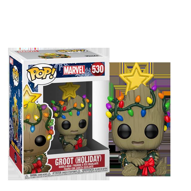 Figurka Funko POP Vánoční Groot s hvězdou