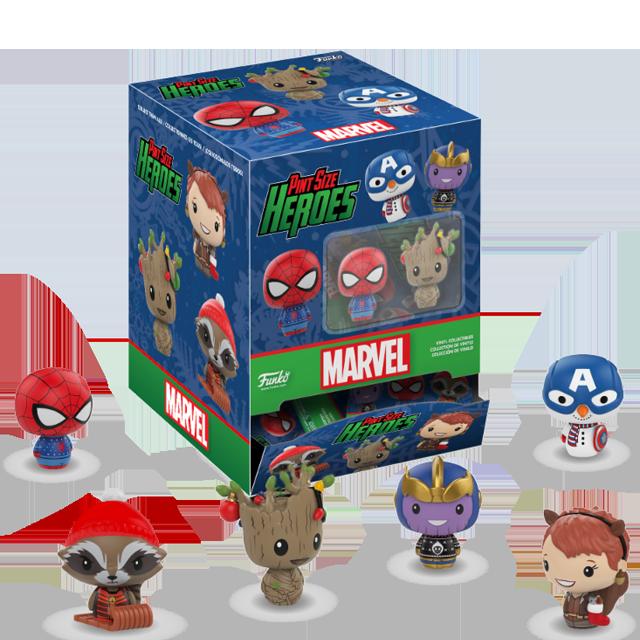 Pint Size Heroes Vánoční Marvel - PINT SIZE Blindbox