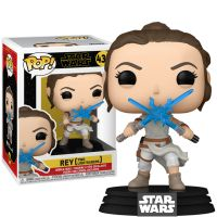 Rey with Two Lightsabers