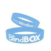 Silikonový náramek Premium - Světle modrý