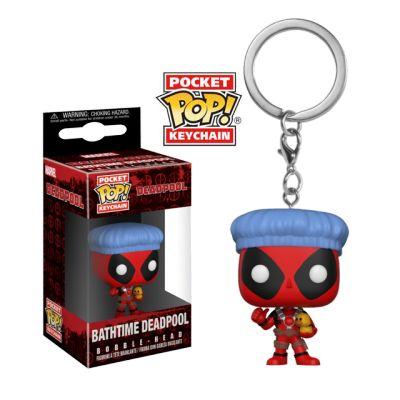 Deadpool s koupací čepicí - přívěsek na klíče