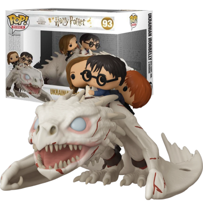 Funko POP Harry, Hermiona a Ron na drakovi