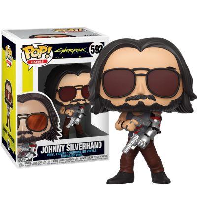 Johnny Silverhand se zbraní - Cyberpunk 2077