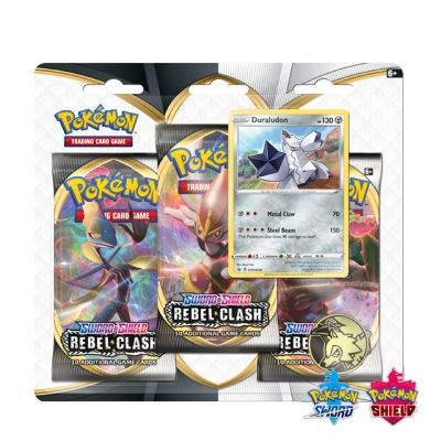 Pokémon: Rebel Clash 3x Booster Pack - Duraludon