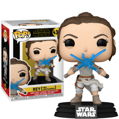 Funko POP Rey with Two Lightsabers