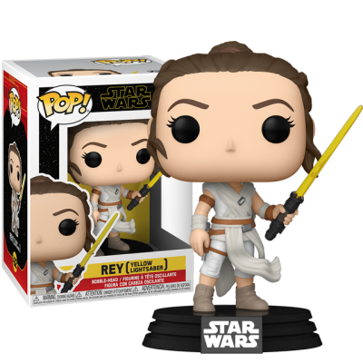 Funko POP Rey with Yellow Lightsaber
