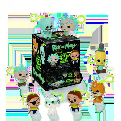 Mystery Minis Rick & Morty plyšové přívěsky - Blindbox