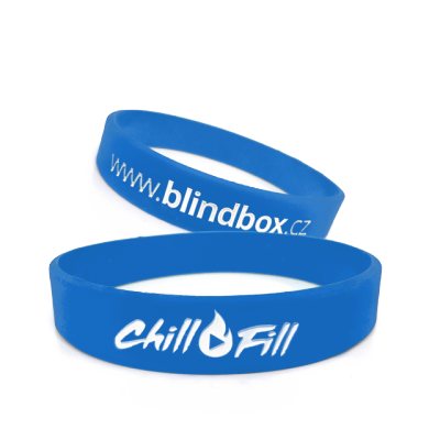Blindbox Silikonový náramek Chill Fill - modrý