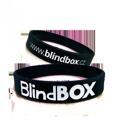 Blindbox Silikonový náramek Prémium - Černý