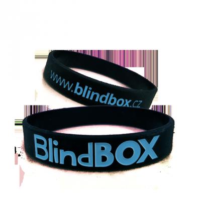 Blindbox Silikonový náramek Prémium - Modročerná