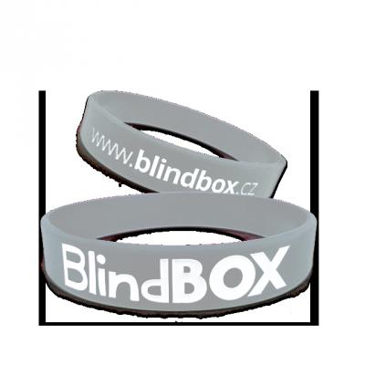 Blindbox Silikonový náramek Prémium - Šedá