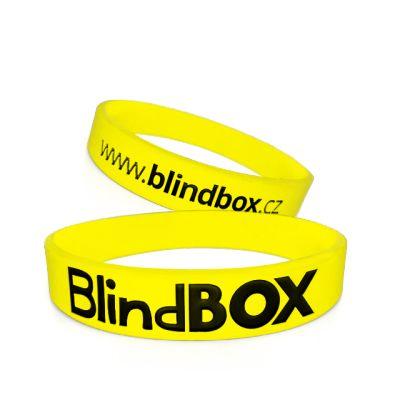 Silikonový náramek Premium - Žlutý