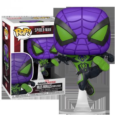 Funko POP Spider-Man Miles Morales - Purple Reign Suit