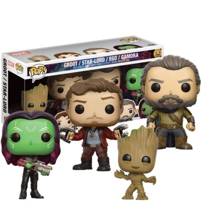 Star-Lord, Young Groot, Gamora a Ego 4-Pack
