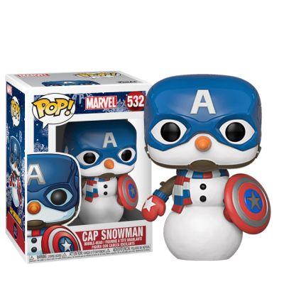 Vánoční Captain America sněhulák